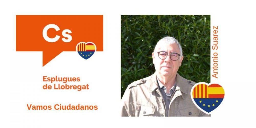 Conoce a Antonio Suarez nº17 de Cs para el Ayuntamiento de Esplugues de Llobregat
