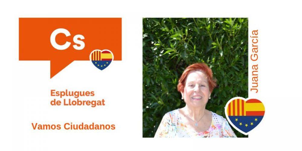Conoce a Juana García nº18 de Cs para el Ayuntamiento de Esplugues de Llobregat