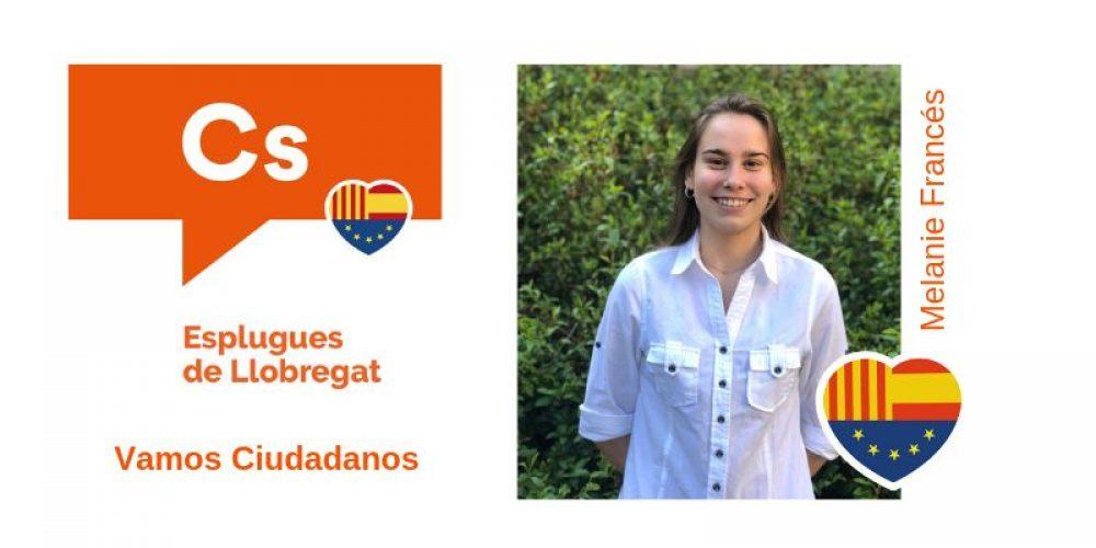 Conoce a Melanie Francés nº10 de Cs para el Ayuntamiento de Esplugues de Llobregat