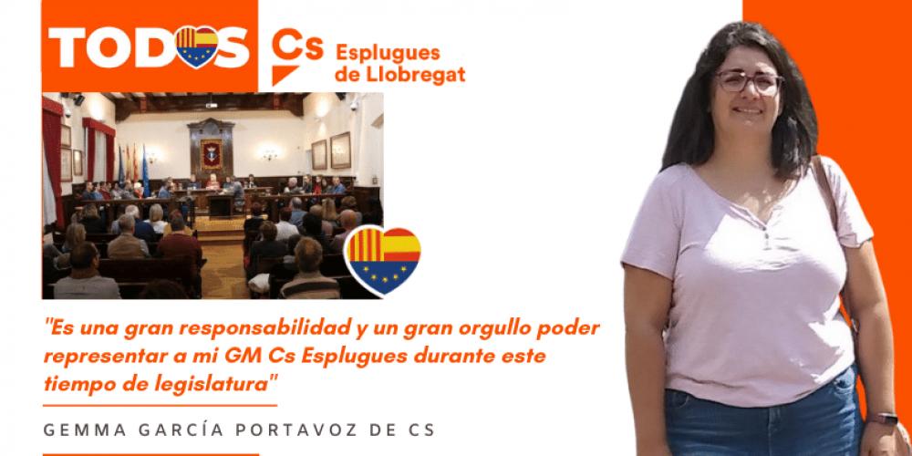 Gemma García, nueva portavoz de Cs en el Ayuntamiento de Esplugues de Llobregat