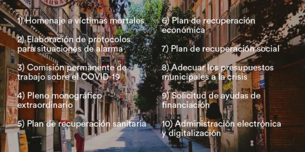 Medidas para la reconstrucción y recuperación de nuestros municipios