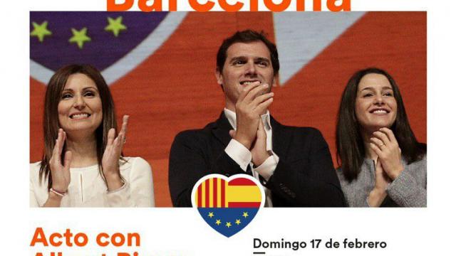 Acto con Albert Rivera, Inés Arrimadas y Lorena Roldán