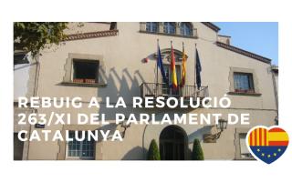 Moció de rebuig a la resolució 263/XI del Parlament de Catalunya relativa a l'informe i conclusions de la Comissió d'Estudis del Procés Constituent