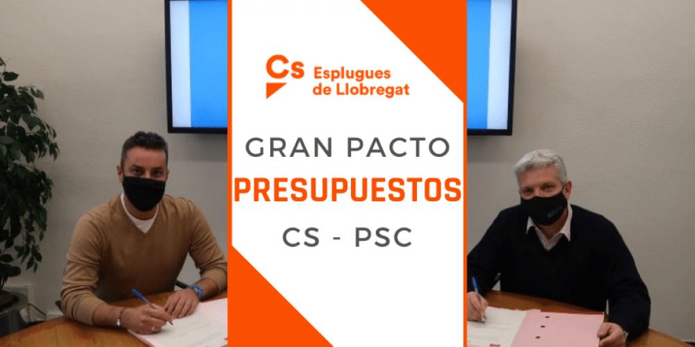 Gran pacto para los presupuestos Cs-PSC